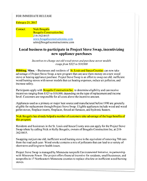 Image of Project Stove Swap Press Release