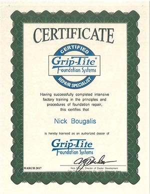 Grip Tite Certificate thumb